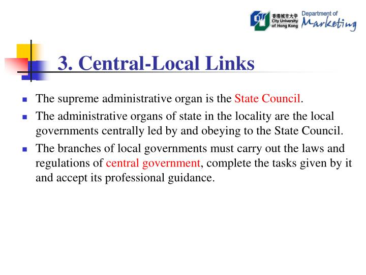 3. Central-Local Links
