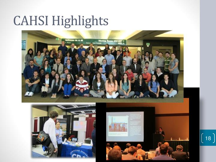 CAHSI Highlights