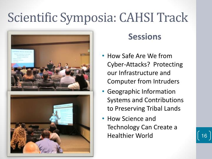 Scientific Symposia: CAHSI Track
