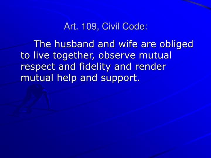 Art. 109, Civil Code:
