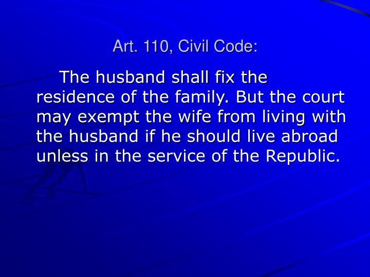 Art. 110, Civil Code: