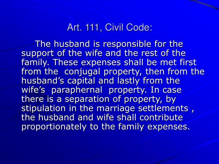 Art. 111, Civil Code: