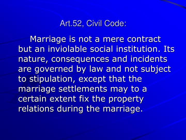 Art.52, Civil Code: