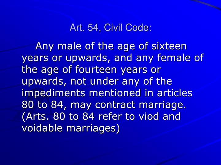 Art. 54, Civil Code: