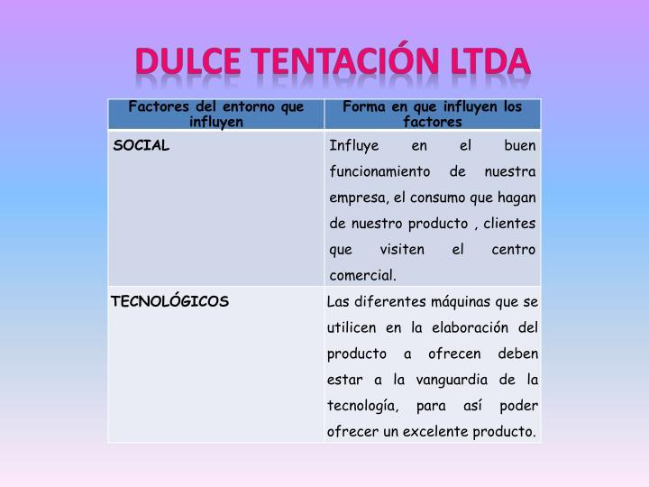 DULCE TENTACIÓN LTDA