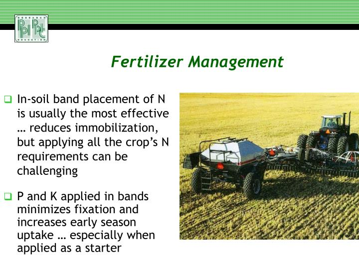Fertilizer Management