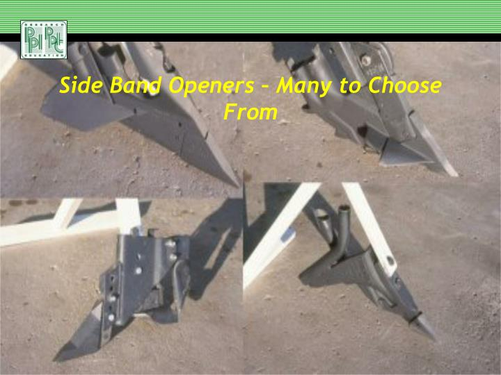 Side Band Openers – Many to Choose From