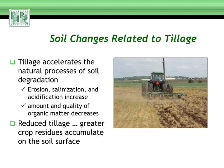 Soil Changes Related to Tillage