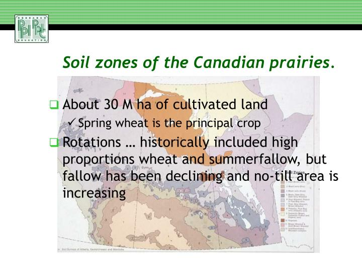 Soil zones of the Canadian prairies.