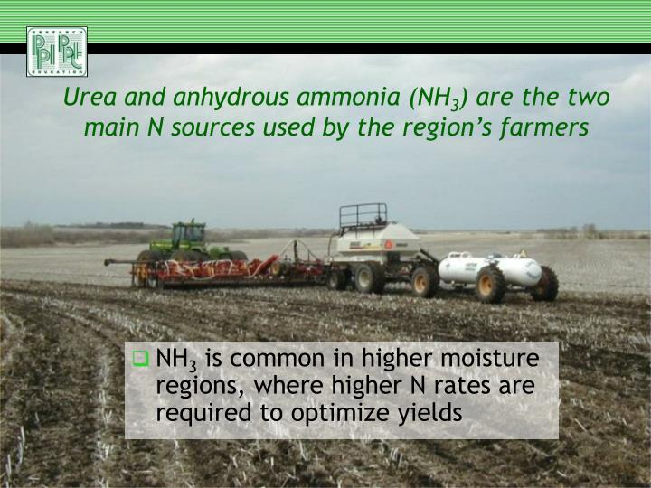 Urea and anhydrous ammonia (NH