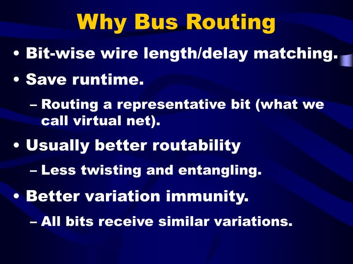 Why bus routing