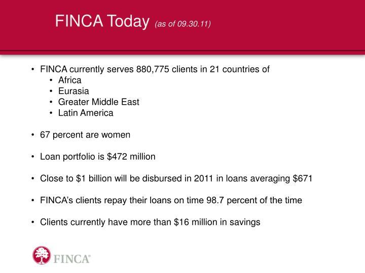 FINCA Today