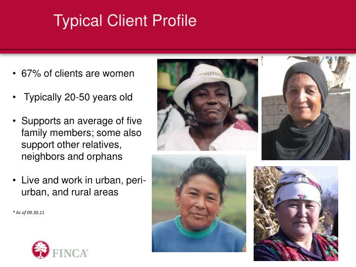 Typical Client Profile