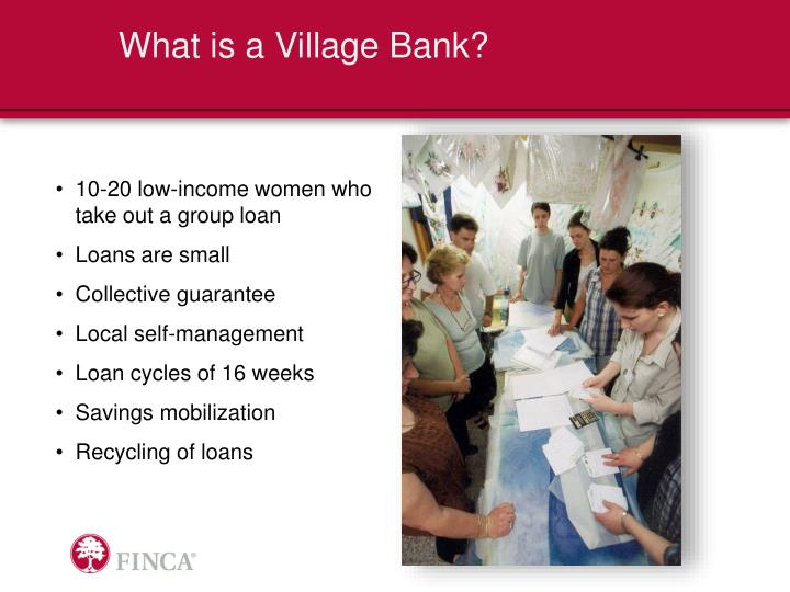 What is a Village Bank?