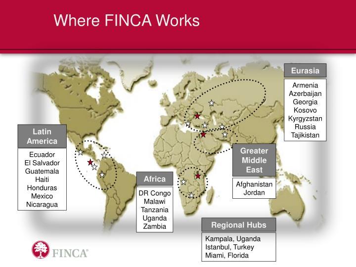 Where FINCA Works