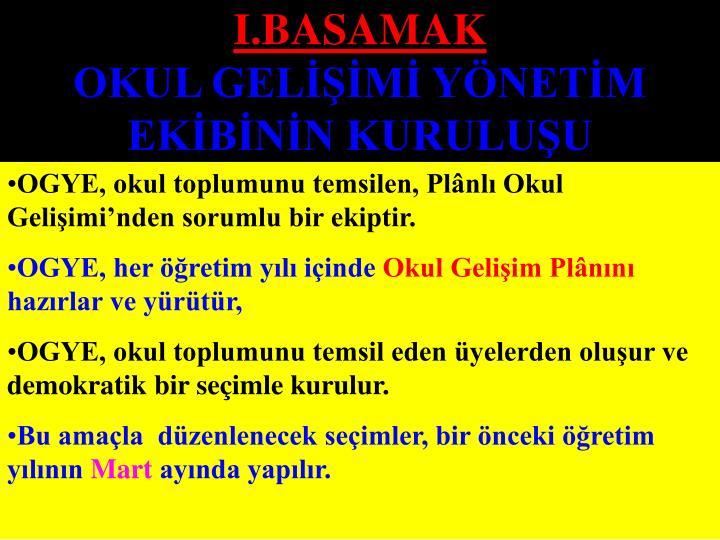 I.BASAMAK