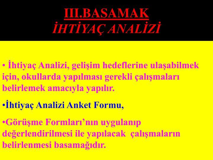 III.BASAMAK