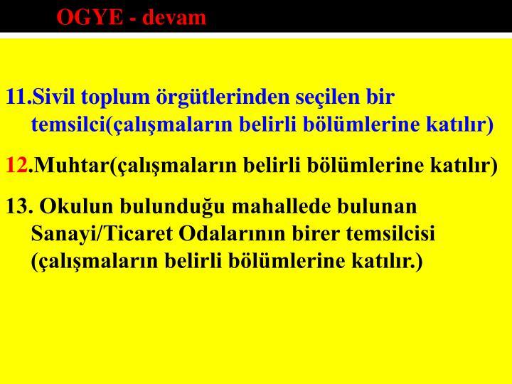 OGYE - devam