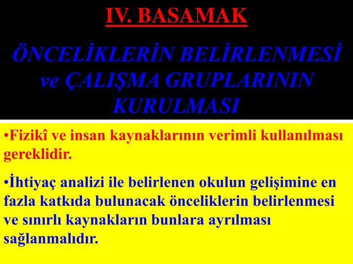 IV. BASAMAK