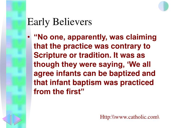 Early Believers