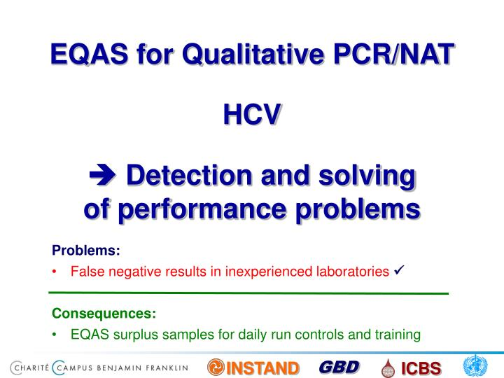 EQAS for Qualitative PCR/NAT