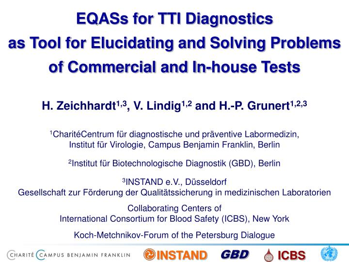 EQASs for TTI Diagnostics