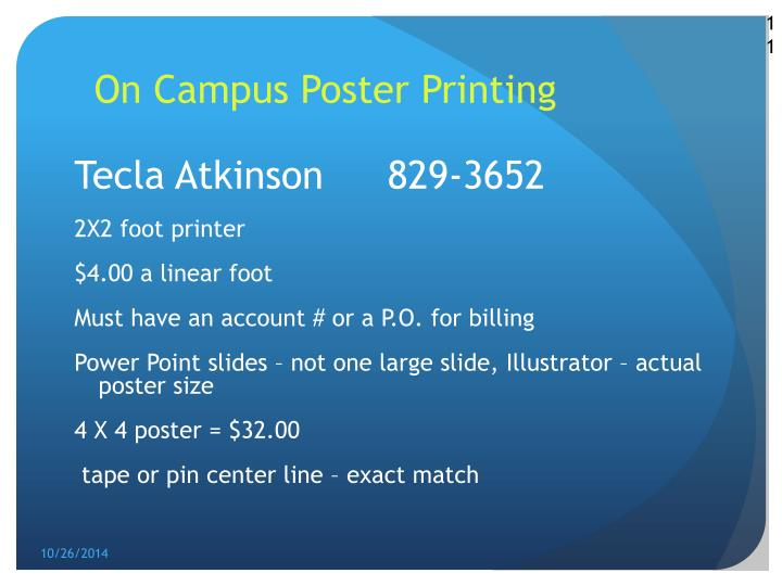 On Campus Poster Printing