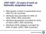 1997 2007 10 years of work on nationally designated areas1