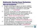 biodiversity clearing house mechanism http biodiversity chm eea europa eu seis next developments