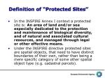 definition of protected sites