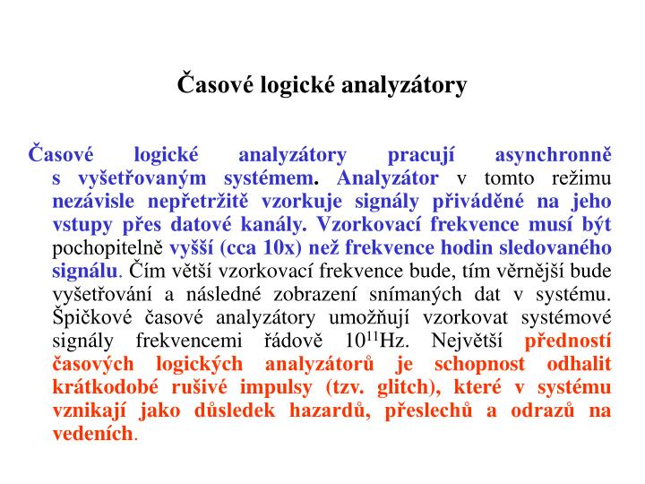 Časové logickéanalyzátory