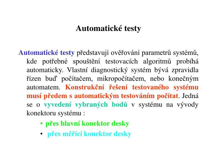 Automatické testy