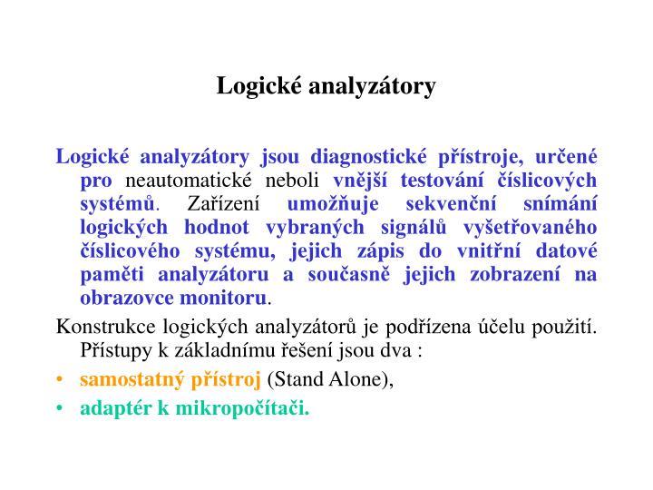 Logické analyzátory