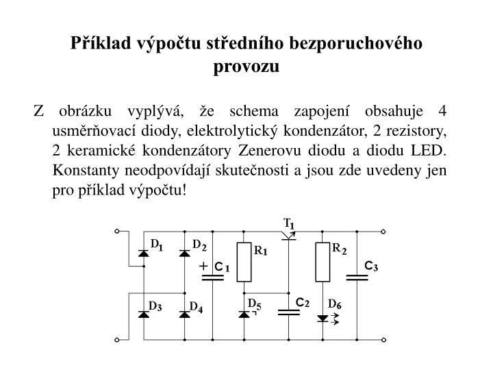 Příklad výpočtu středního bezporuchového provozu