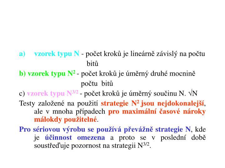 vzorek typu N