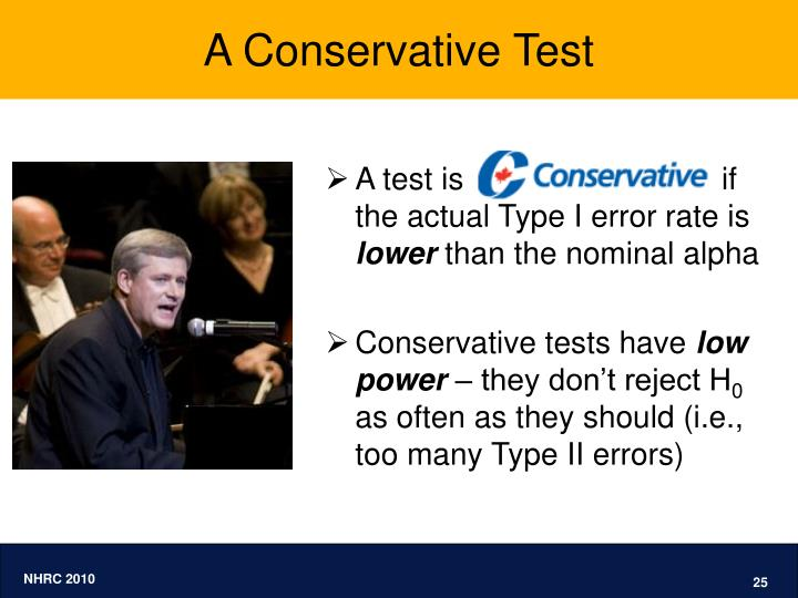 A Conservative Test