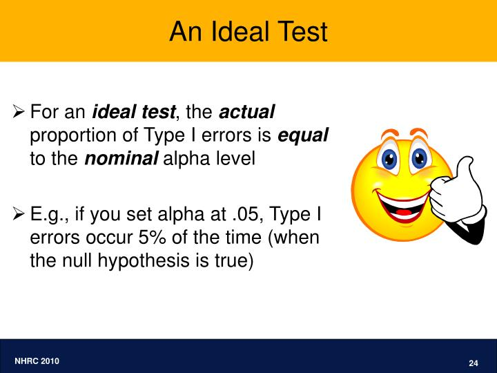 An Ideal Test