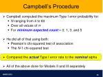 campbell s procedure