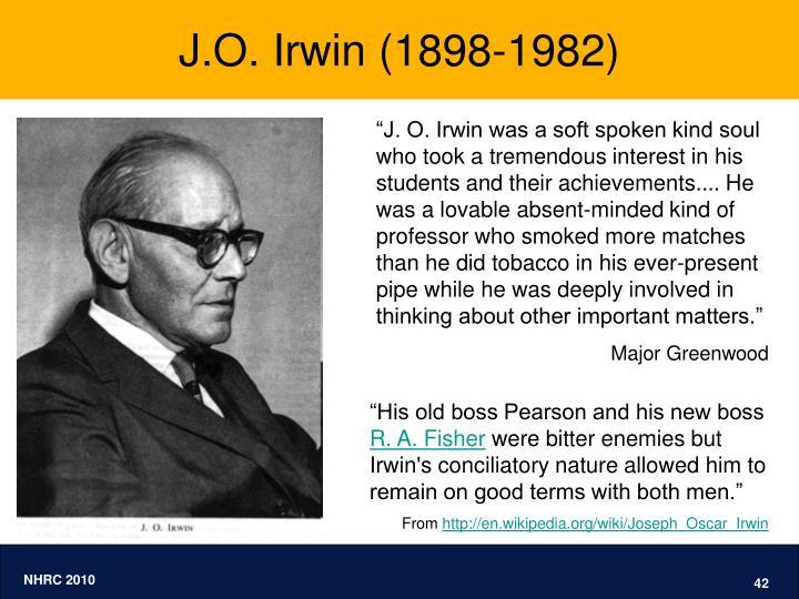 J.O. Irwin (1898-1982)