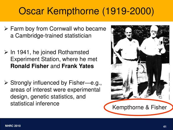 Oscar Kempthorne (1919-2000)