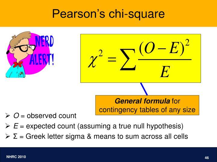 Pearson's chi-square
