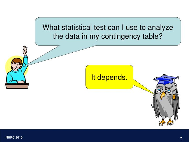 What statistical test can I use to analyze the data in my contingency table?
