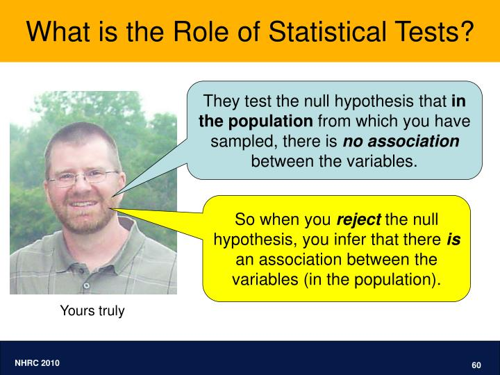 What is the Role of Statistical Tests?