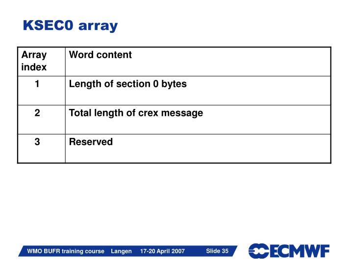 KSEC0 array