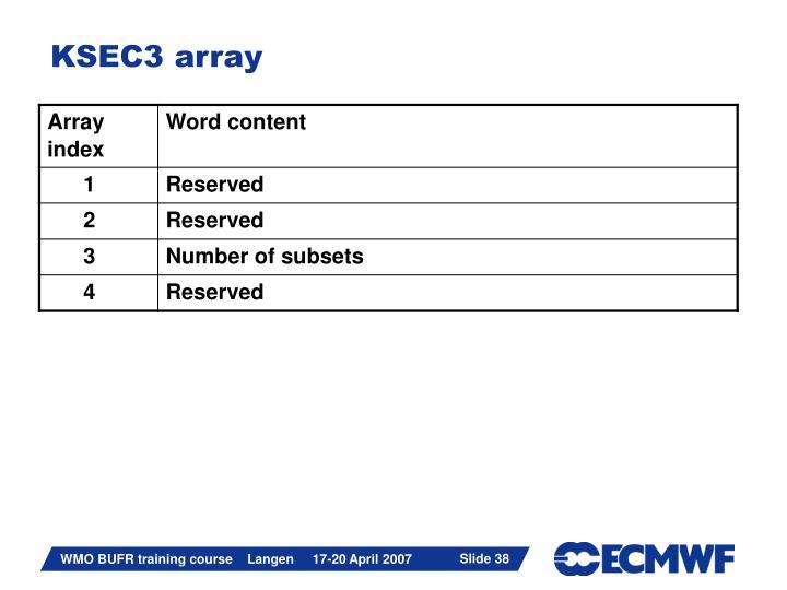KSEC3 array