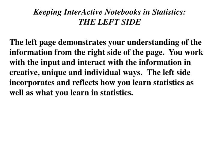 Keeping InterActive Notebooks in Statistics: