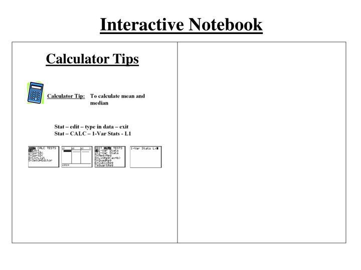 Interactive Notebook