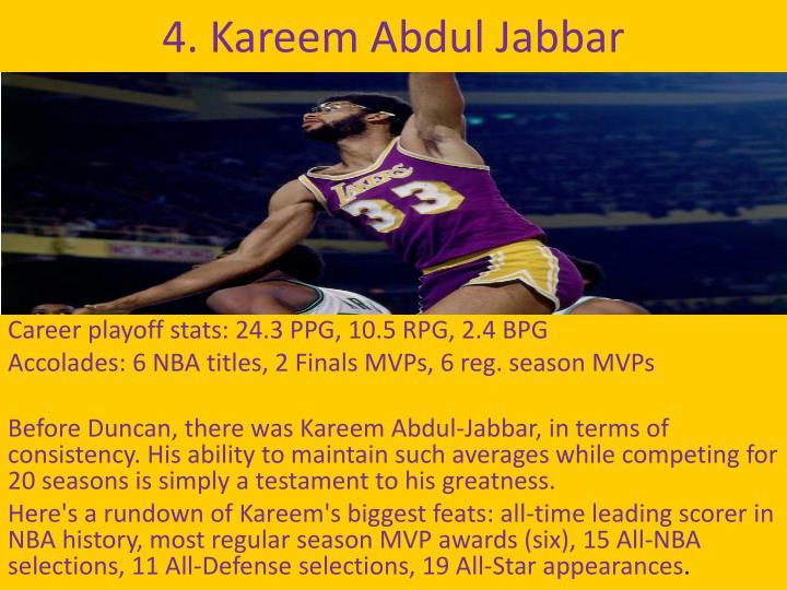 4. Kareem Abdul Jabbar