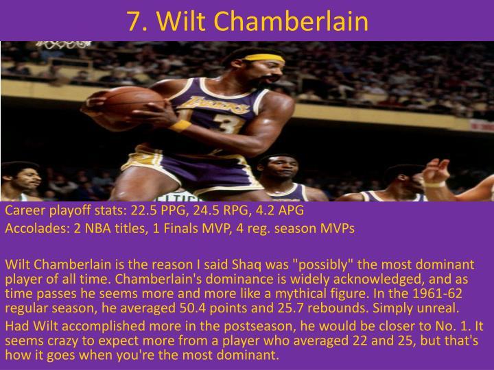 7. Wilt Chamberlain