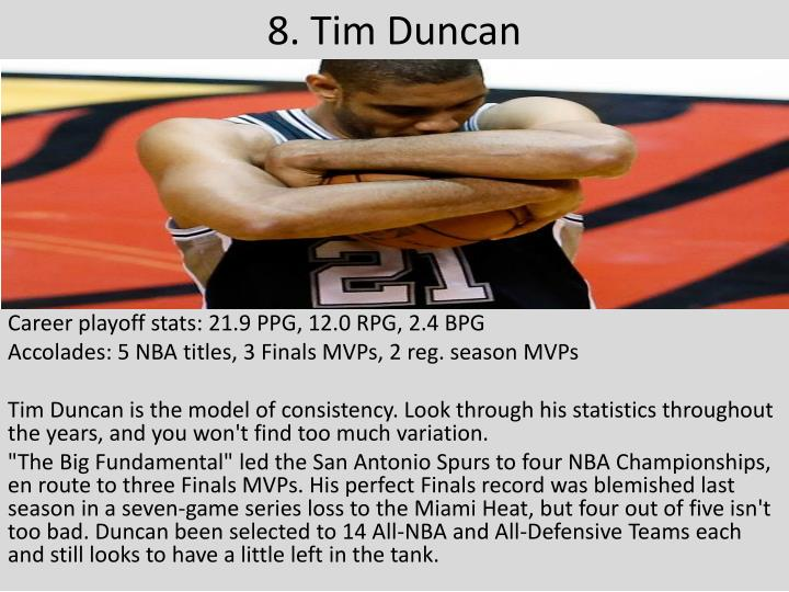 8. Tim Duncan